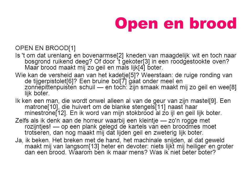 Open en brood OPEN EN BROOD[1]